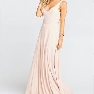 Jenn Maxi Dress - Dusty Blush Crisp